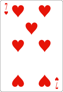 7 de coeur carte poker