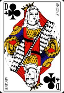 dame de trefle carte poker